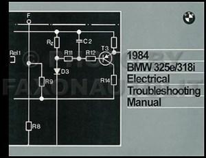 1984 BMW 325e 318i Electrical Troubleshooting Manual