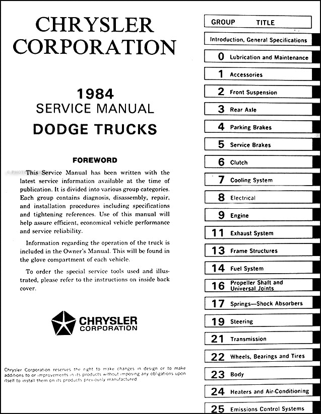 1984DodgeRamChargerORM TOC?resize\=637%2C823 1985 dodge ram charger fuse box diagram wiring diagrams 1985 dodge ram fuse box location at couponss.co