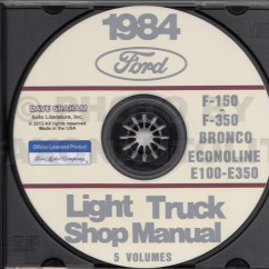 1984 Ford F 150 Wiring Diagram Basic Trailer Light F150 F250 F350 Pickup Truck Original