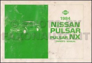 1984 Nissan Pulsar NX Repair Shop Manual Original