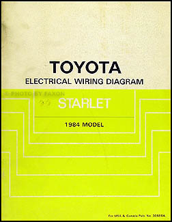 1984 Toyota Starlet Wiring Diagram Manual Original