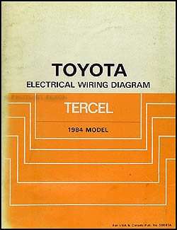1984 Toyota Tercel Wiring Diagram Manual Original