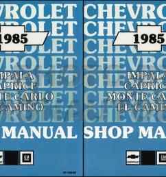 1985 chevy car repair shop manual reprint impala caprice malibu monte carlo el camino gmc caballero [ 1232 x 800 Pixel ]