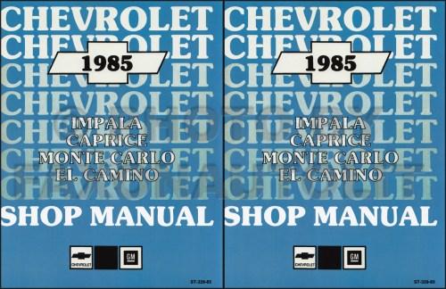 small resolution of 1985 chevy car repair shop manual reprint impala caprice malibu monte carlo el camino gmc caballero