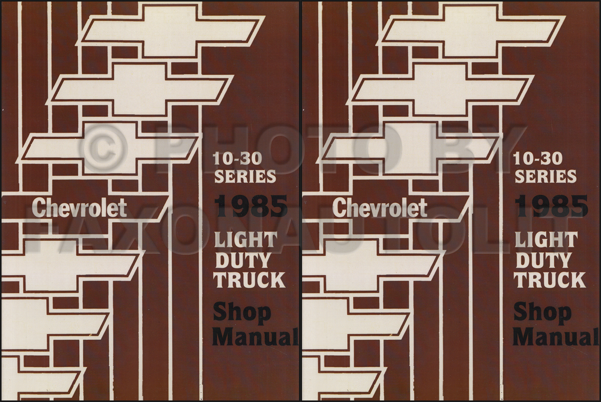 1988 Chevy Light Duty Truck Wiring Diagrams Manual
