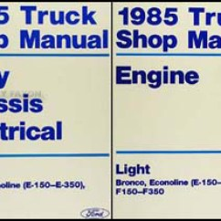 1988 Ford F 150 Wiring Diagram Ansul System Electrical 1985 Truck And Van Repair Shop Manual E 350 Bronco Super Duty Econoline