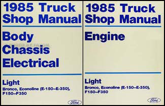 1988 ford f 150 wiring diagram 2007 chevy silverado radio harness 1985 truck and van repair shop manual e 350 bronco super duty econoline