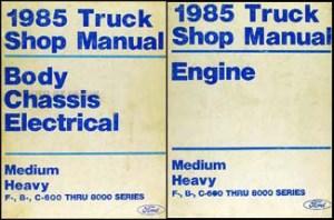 1985 Ford Truck (COWL) Wiring Diagram F600 F700 F800 F7000