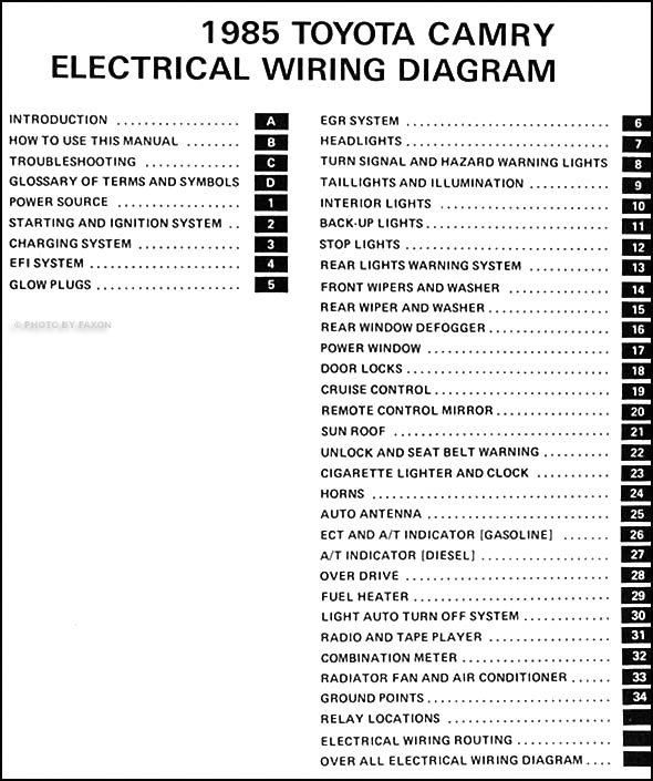 1995 Camry Wiring Diagram Toyota Tercel Wiring Diagram And
