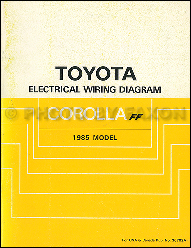 1985 Toyota Pickup Wiring Diagram Wiring Harness Wiring Diagram