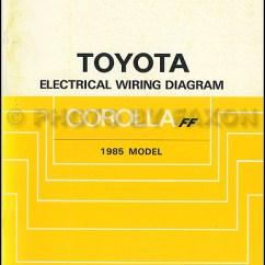 1996 Toyota Corolla Belt Diagram Gibson Wiring Sg 1985 Diagrams Fwd Manual Original