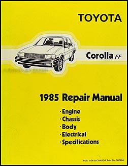 1985 Toyota Corolla RWD Repair Shop Manual Original GTS