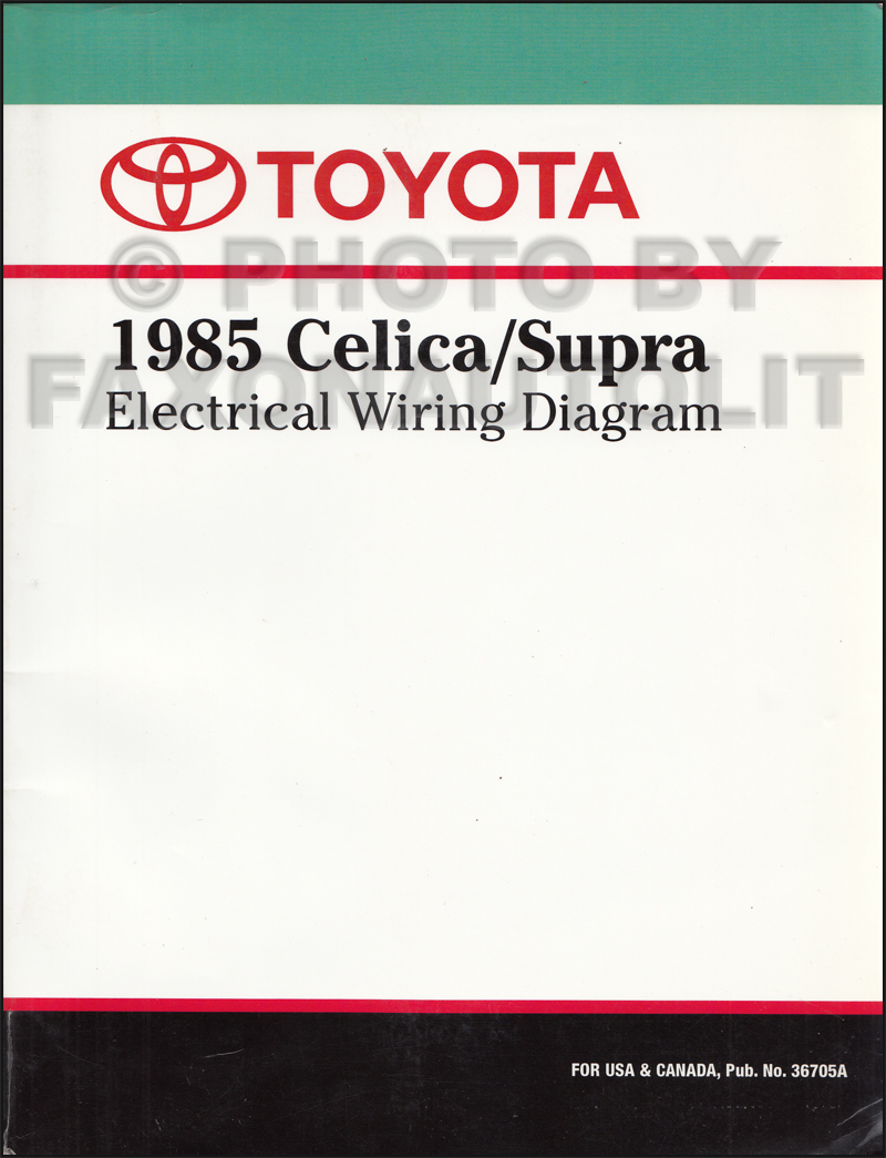 hight resolution of 1985 toyota celica supra wiring diagram manual factory reprint