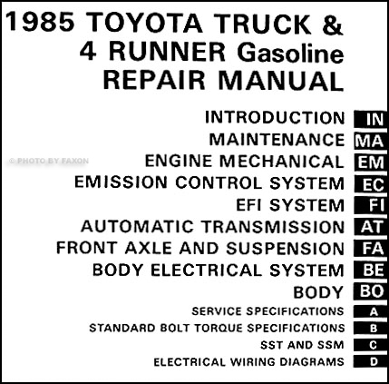 1985 Toyota Pickup Truck/4Runner Auto Transmission Repair