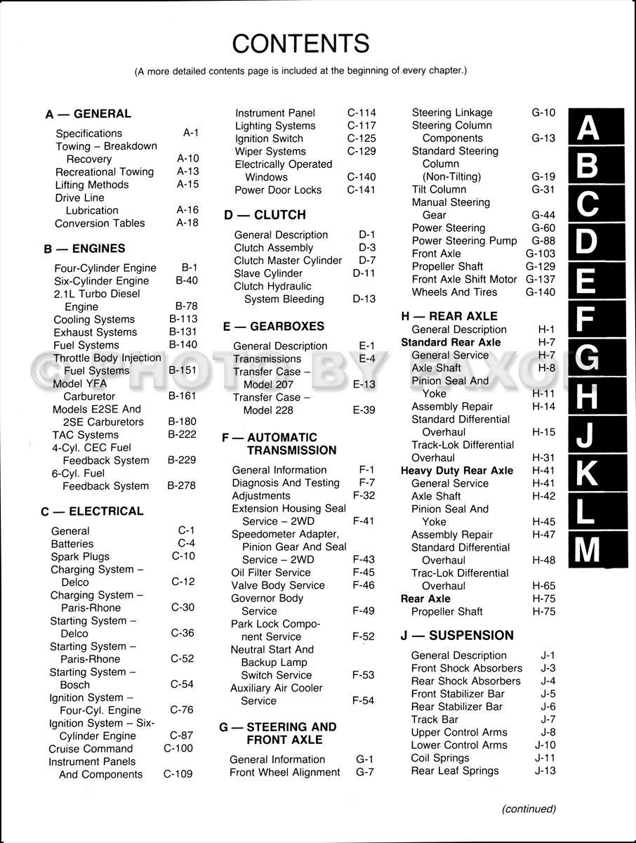 1986-1988 Jeep Comanche Repair Shop Manual Set Reprint--M