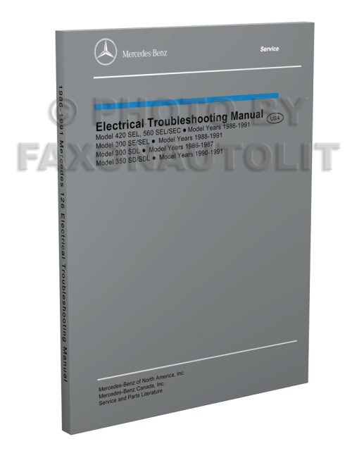 small resolution of 1986 1991 mercedes 126 electrical troubleshooting manual reprint 300sdl se sel 350sd sdl 420sel 560sec sel