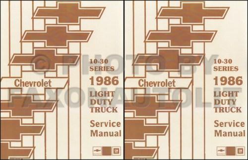 small resolution of 1986 chevy truck repair shop manual original pickup blazer wiring diagram 1985 chevy p30 van