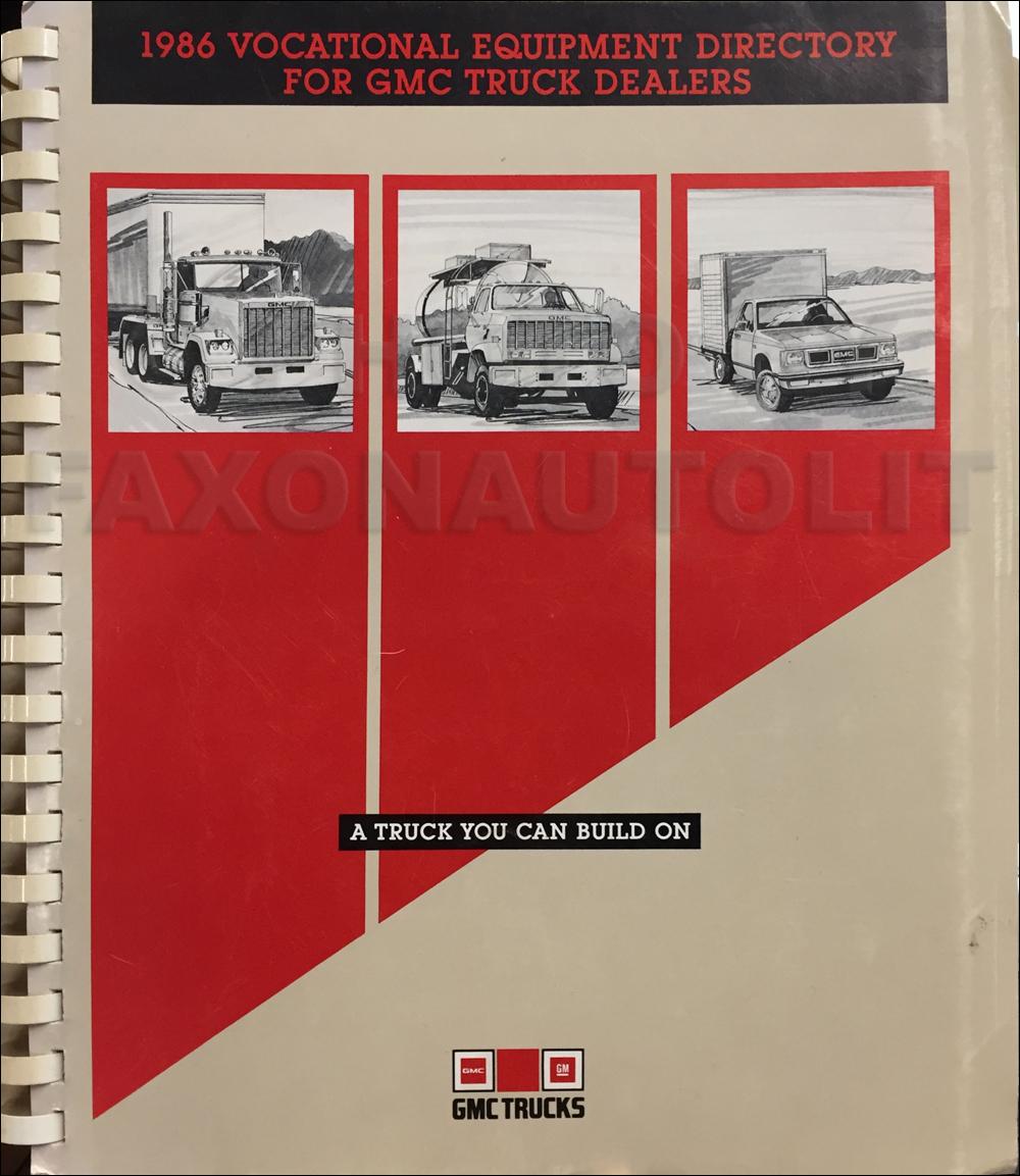 1987 Gmc Brigadier Wiring Diagram Original Gmc Books