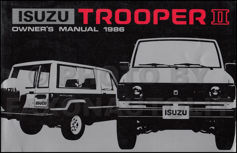 1986 Isuzu Trooper Wiring Diagram