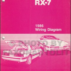 Mazda Wiring Diagram Color Codes Usb 3 0 Cable 1986 Rx-7 Manual Original Rx7