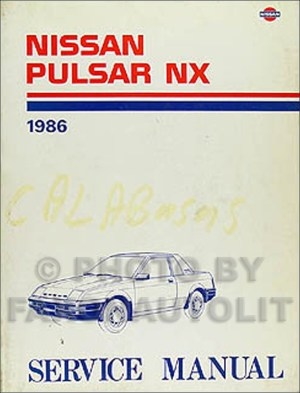1986 Nissan Pulsar NX Shop Manual 86 Original Dealer