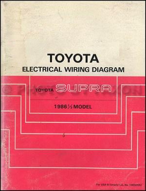 19865 Toyota Supra Wiring Diagram Manual Original