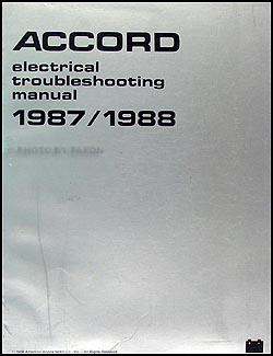 1987 1988 Honda Accord Electrical Troubleshooting Manual Original