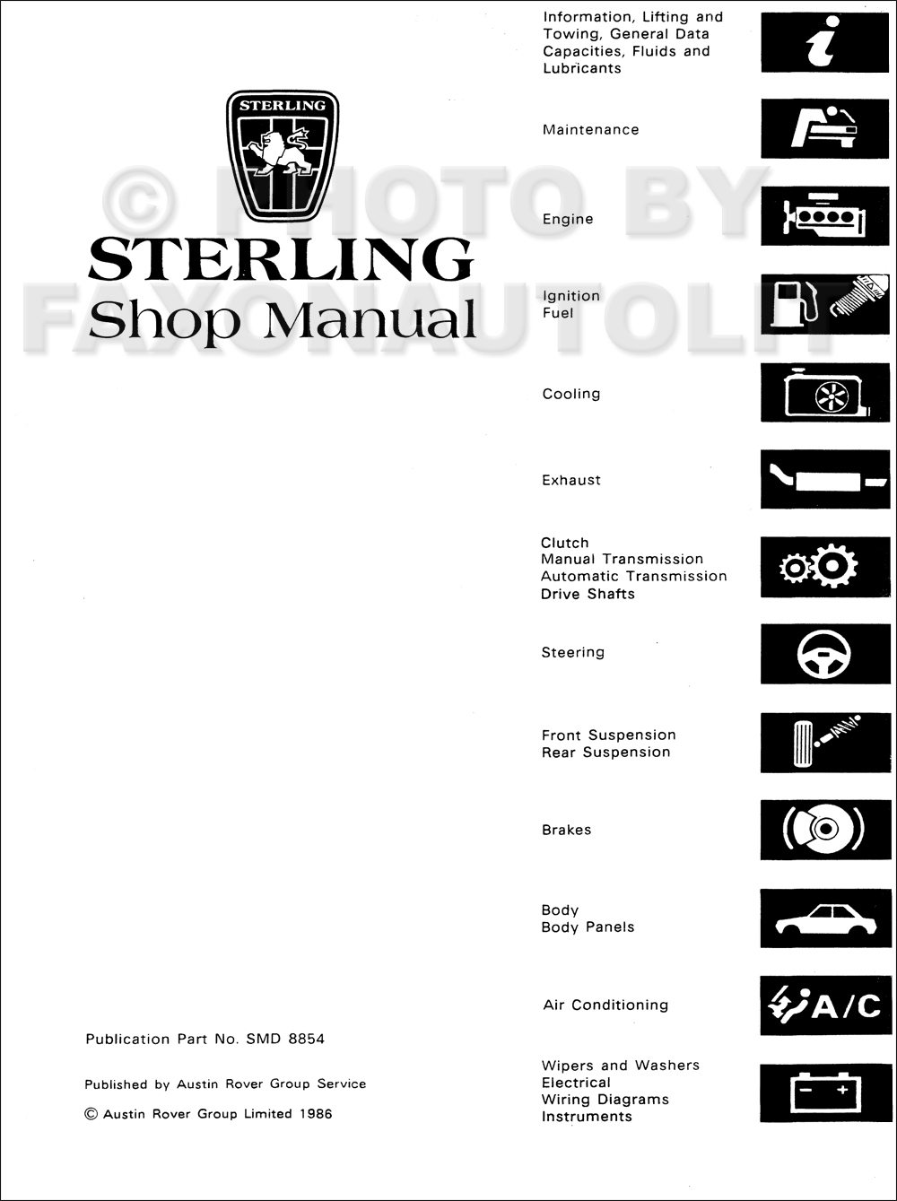 1987-1988 Sterling 825 Reprint Repair Shop Manual