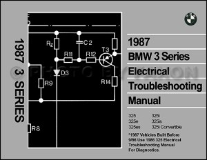 1987 BMW 325 Electrical Troubleshooting Manual 325i 325e