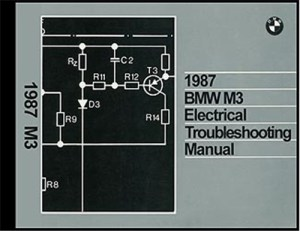 1987 BMW M3 Electrical Troubleshooting Manual Wiring