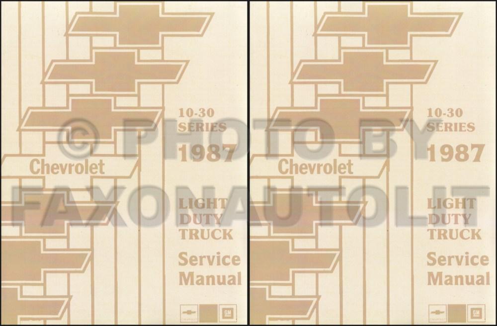 medium resolution of 1987 chevy truck repair shop manual reprint pickup blazer suburban van fc set