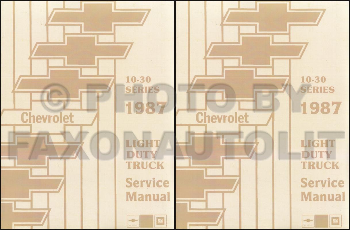 hight resolution of 1987 chevy truck repair shop manual reprint pickup blazer suburban van fc set
