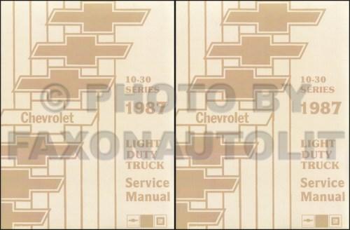 small resolution of 1987 chevy truck repair shop manual reprint pickup blazer suburban van fc set