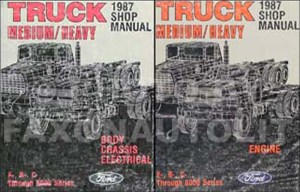 1987 Ford Truck (COWL) Foldout Wiring Diagram F600 F700