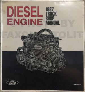 1987 Ford LSeries Wiring Diagram L8000 L9000 LT8000