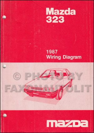 1987 Mazda 323 Repair Shop Manual Original