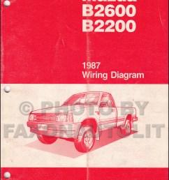 1987 mazda b2200 b2600 pickup truck wiring diagram manual original rh faxonautoliterature com mazda b2200 wiring mazda b2200 wiring harness [ 1000 x 1392 Pixel ]