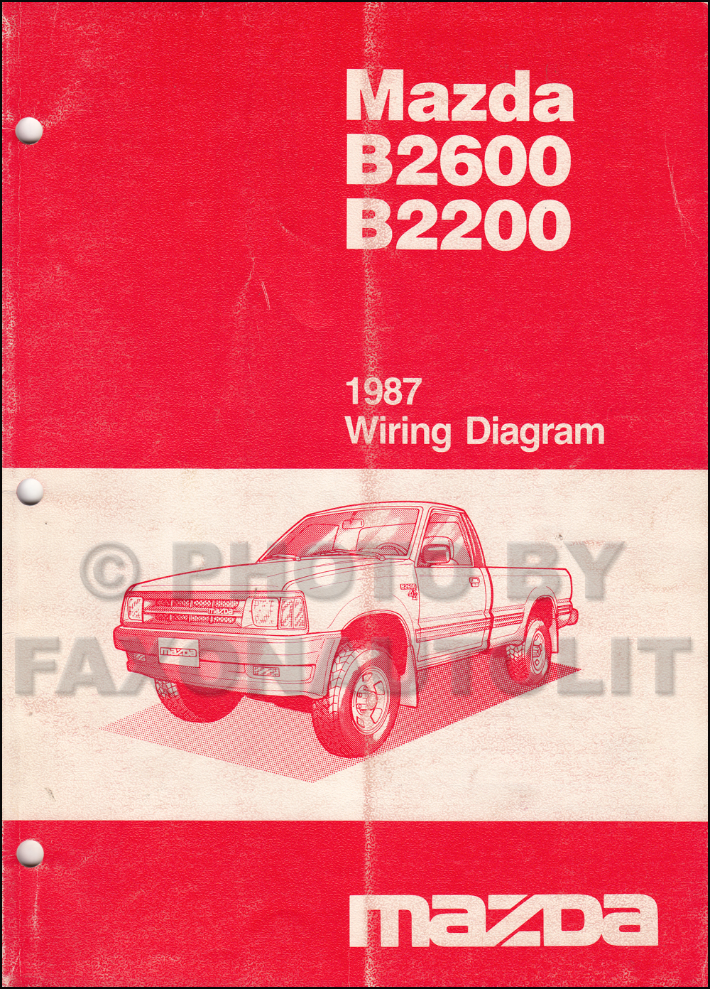 medium resolution of 1987 mazda b2200 wiring diagram