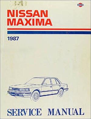 1987 Nissan Maxima Repair Shop Manual Original