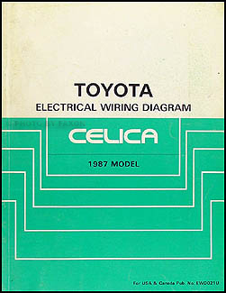 1987 Toyota Celica Wiring Diagram Manual