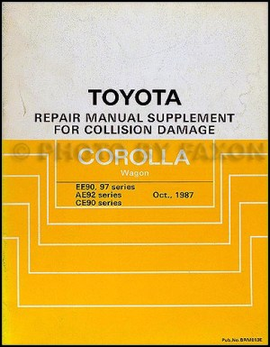 19881992 Toyota Corolla All Trac4WD Body Collision Manual Station Wagon Supplement