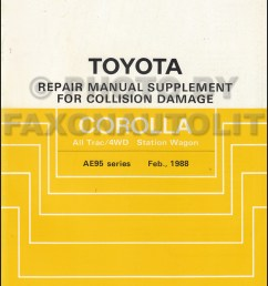 1988 1992 toyota corolla all trac 4wd body collision manual station wagon supplement [ 800 x 1042 Pixel ]