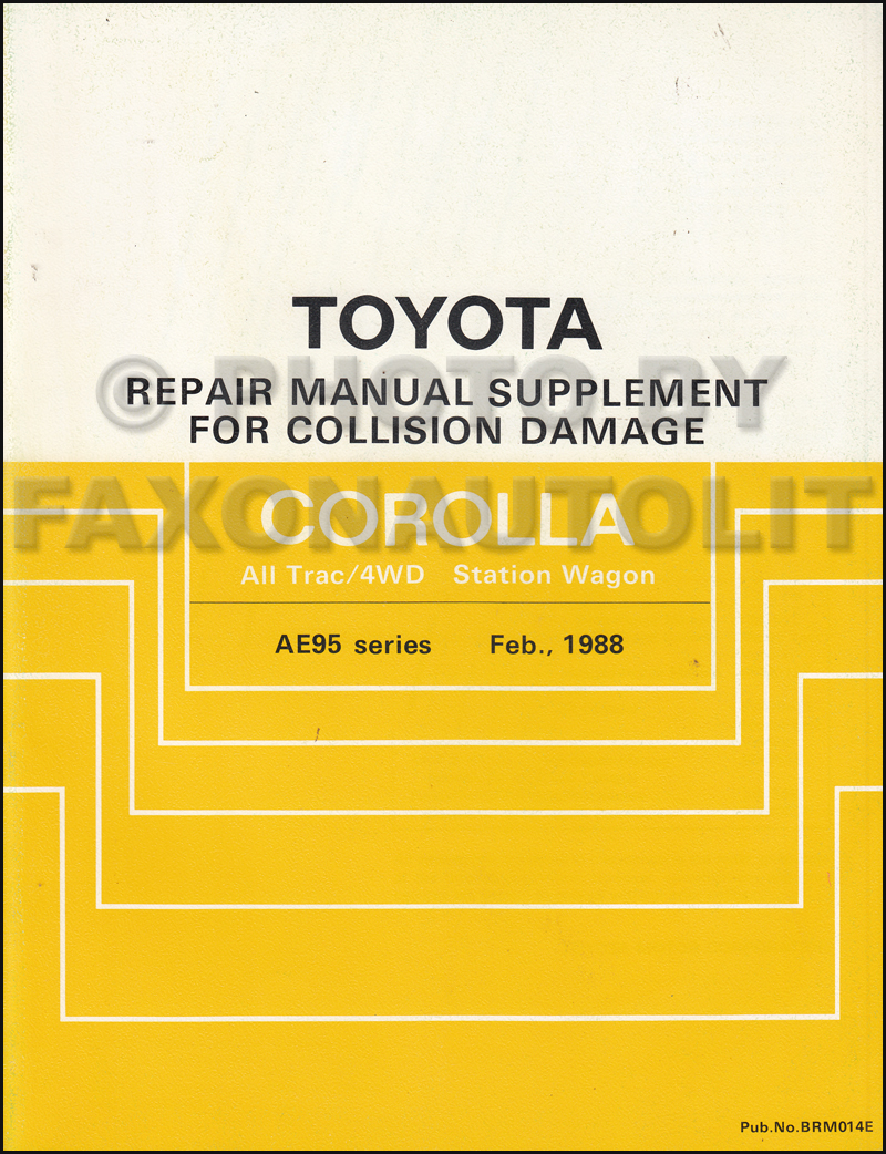medium resolution of 1988 1992 toyota corolla all trac 4wd body collision manual station wagon supplement