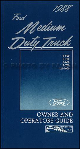 1988 Ford LSeries Truck Repair Shop Manual LNT LL LS LT