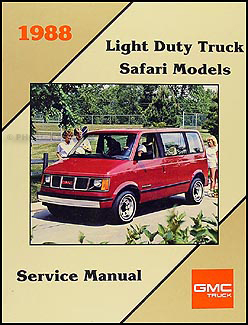 1988 GMC 12, 34, & 1 ton Truck Overhaul Manual Original