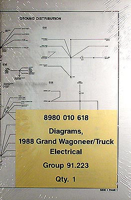 1988 Grand Wagoneer, J10 & J20 Pickup Truck Wiring