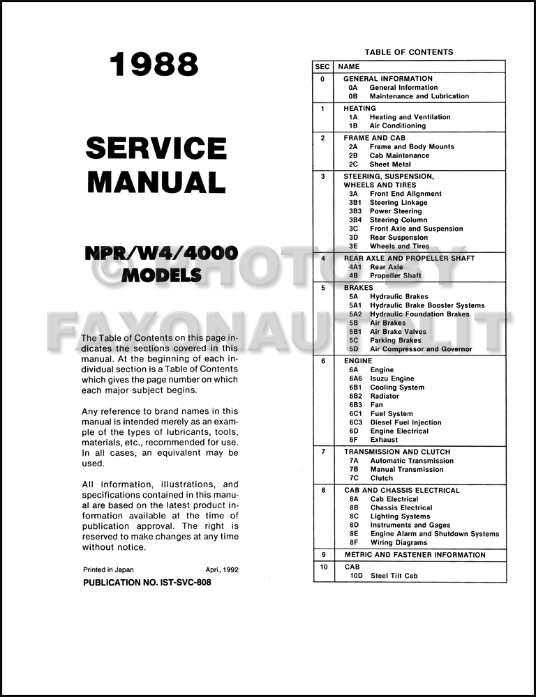 2002 Isuzu Npr Wiring Diagram For Shutdown : 42 Wiring