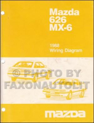 1988 Mazda 626 and MX6 Wiring Diagram Manual Original