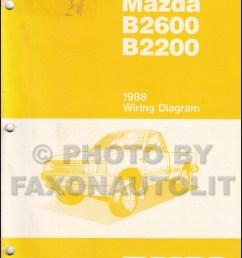 1988 mazda b2600 b2200 pickup truck wiring diagram manual original rh faxonautoliterature com [ 800 x 1046 Pixel ]