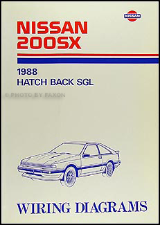 1988 Nissan 200SX Wiring Diagram Manual Original